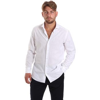 Textil Homem Camisas mangas comprida Les Copains 20P500 P3196SL Branco