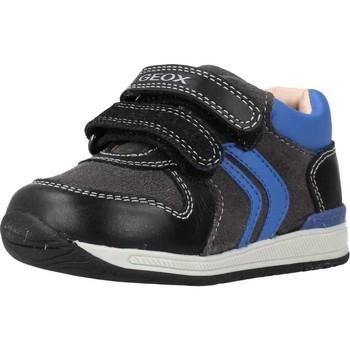 Sapatos Rapaz Sapatilhas Geox B RISHON BOY Preto