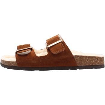 Sapatos Mulher Chinelos Grunland - Pantofola cuoio CB2586 MARRONE