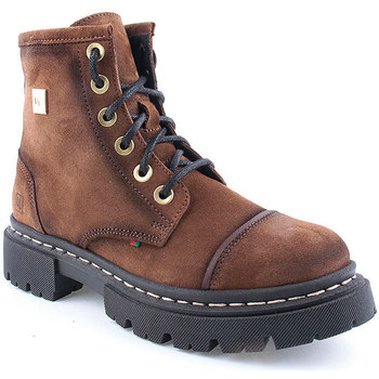 Sapatos Mulher Botas baixas Vashoes L Ankle boots Military Camel