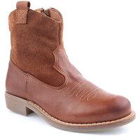 Sapatos Rapariga Botas Agm K Boot Texana Castanho