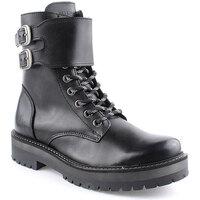 Sapatos Mulher Botas baixas Helena Mar L Ankle boots Military Preto