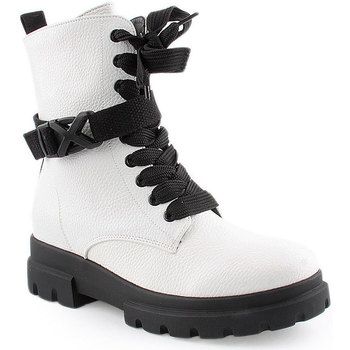 Sapatos Mulher Botas baixas Lapierce L Ankle boots Military Branco
