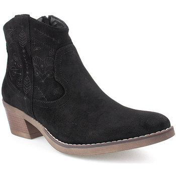 Sapatos Mulher Botins Lapierce L Ankle boots Texana Preto