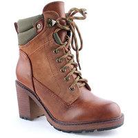 Sapatos Mulher Botins Lapierce L Ankle boots CASUAL Camel