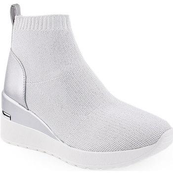 Sapatos Mulher Botins Uauh! L Ankle boots Sporty Prateado