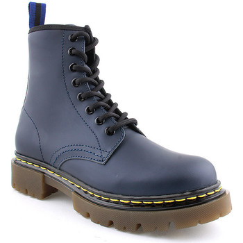 Sapatos Mulher Botins Flaj L Boots Military Azul