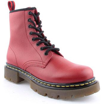 Sapatos Mulher Botins Flaj L Boots Military Vermelho