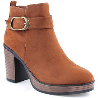 Sapatos Mulher Botins Kamosa L Ankle boots CASUAL Camel