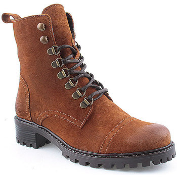 Sapatos Mulher Botins Laifshoes L Ankle boots Military Camel