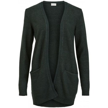 Textil Mulher Casacos Vila Casaco Ril Cardigan Darkest Spruce Verde