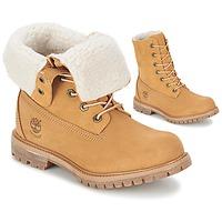 Sapatos Mulher Botas baixas Timberland AUTHENTICS TEDDY FLEECE WP FOLD DOWN Conhaque / Claro