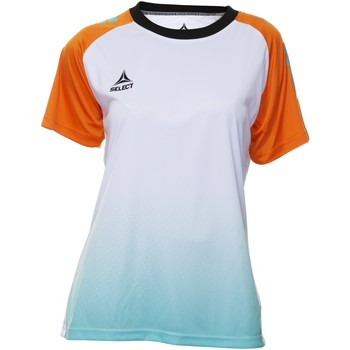 Textil Mulher T-Shirt mangas curtas Select T-shirt femme  Player Femina orange/blanc/vert