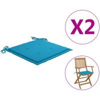 Casa Almofada de cadeira VidaXL Almofadão para cadeira de jardim 40 x 40 x 4 cm Azul