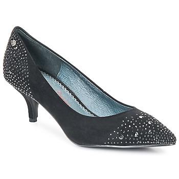 Sapatos Mulher Escarpim Couleur Pourpre FADILE Preto
