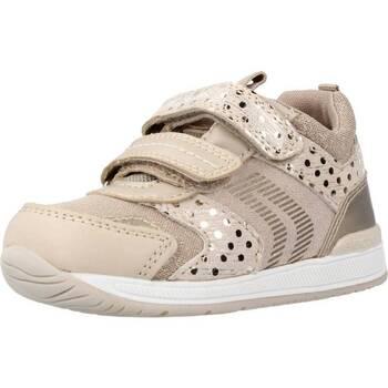 Sapatos Rapariga Botas Geox B RISHON GIRL Marron