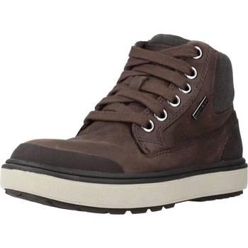 Sapatos Rapaz Botas Geox J MATTIAS B BOY ABX Marron