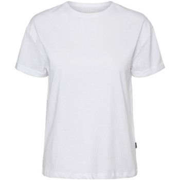 Textil Mulher T-Shirt mangas curtas Noisy May T-shirt femme  nmbrandy bright white