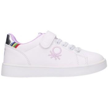 Sapatos Rapariga Sapatilhas Benetton BTK124008 1081 Niña Blanco blanc
