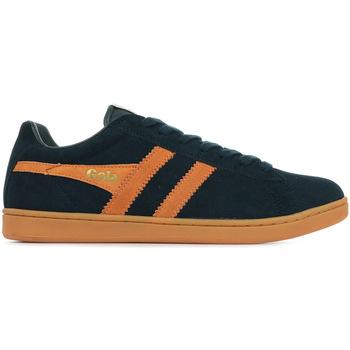 Sapatos Homem Sapatilhas Gola Equipe Suede Azul