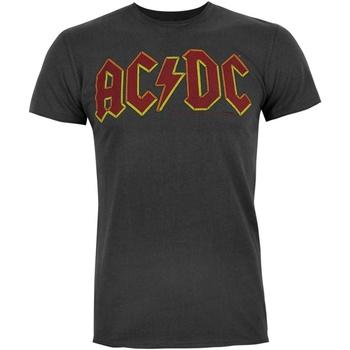 Textil Homem T-Shirt mangas curtas Ac/dc  Carvão vegetal