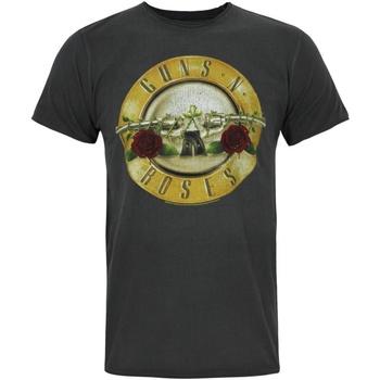 Textil Homem T-Shirt mangas curtas Amplified  Carvão vegetal/ouro