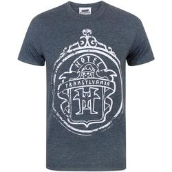 Textil Homem T-Shirt mangas curtas Hotel Transylvania  Carvão vegetal