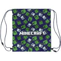 Malas Criança Saco de desporto Minecraft  Azul