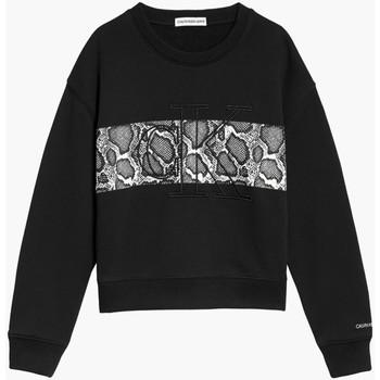 Textil Rapariga Sweats Calvin Klein Jeans IG0IG01201 Preto
