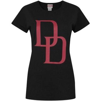 Textil Mulher T-Shirt mangas curtas Daredevil  Preto/Vermelho