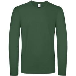 Textil Homem T-shirt mangas compridas B And C TU05T Garrafa Verde