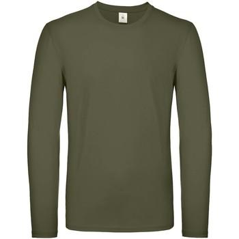 Textil Homem T-shirt mangas compridas B And C TU05T Khaki Urbano