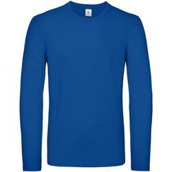 Textil Homem T-shirt mangas compridas B And C TU05T Royal Blue