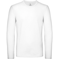 Textil Homem T-shirt mangas compridas B And C TU05T Branco