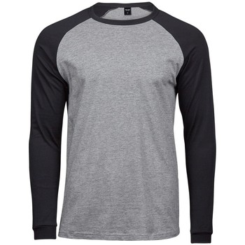 Textil Homem T-shirt mangas compridas Tee Jays T5072 Heather Grey/Black