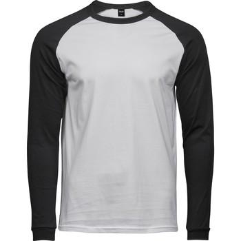 Textil Homem T-shirt mangas compridas Tee Jays T5072 Branco/Preto