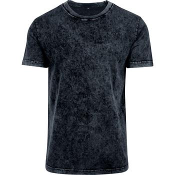 Textil Homem T-Shirt mangas curtas Build Your Brand BY070 Cinza escuro/branco