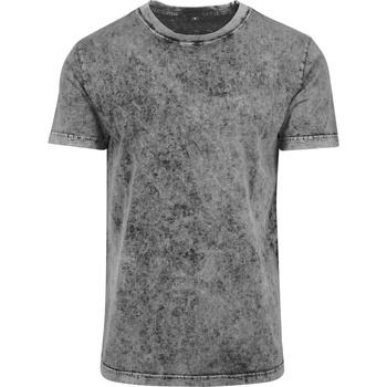 Textil Homem T-Shirt mangas curtas Build Your Brand BY070 Cinza/Preto