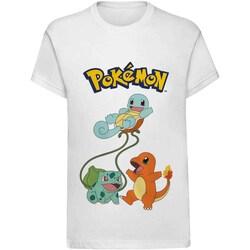 Textil Criança T-Shirt mangas curtas Pokemon  Branco
