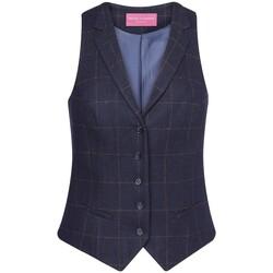 Textil Mulher Coletes Brook Taverner BK521 Cheque da Marinha