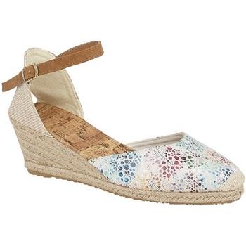 Sapatos Mulher Sandálias Cipriata  Branco/Multicolorido