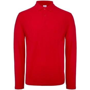 Textil Homem Polos mangas compridas B And C BA290 Vermelho
