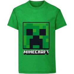 Textil Criança T-Shirt mangas curtas Minecraft  Verde