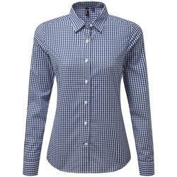 Textil Mulher camisas Premier PR352 Marinha/ Branco