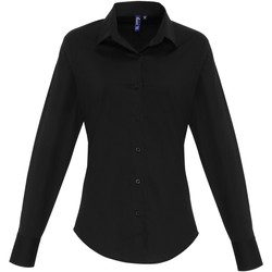 Textil Mulher camisas Premier PR344 Preto