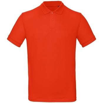 Textil Homem Polos mangas curta B And C PM430 Chama Vermelha