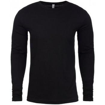 Textil Homem T-shirt mangas compridas Next Level NX3601 Preto