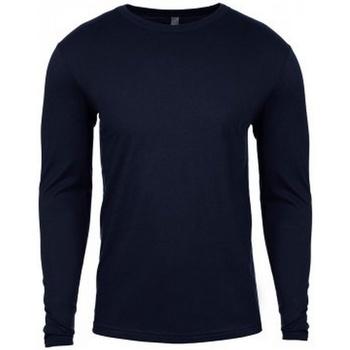 Textil Homem T-shirt mangas compridas Next Level NX3601 Meia-noite na Marinha