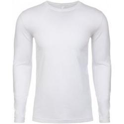 Textil Homem T-shirt mangas compridas Next Level NX3601 Branco