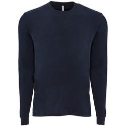 Textil T-shirt mangas compridas Next Level NX6411 Meia-noite na Marinha